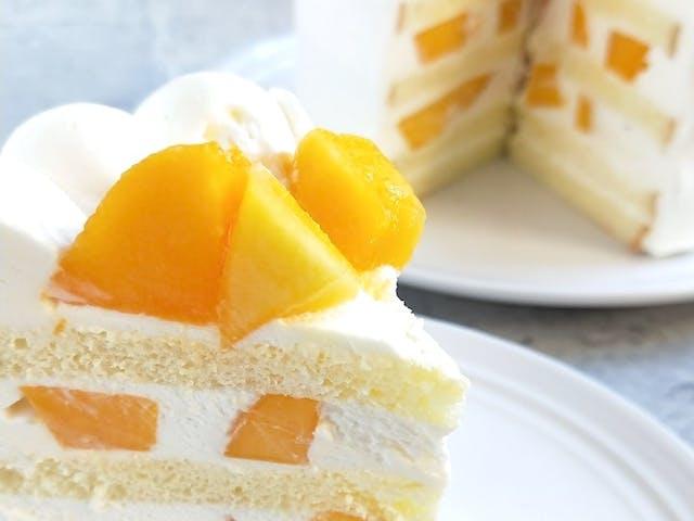 芒果鮮奶油日式海綿蛋糕