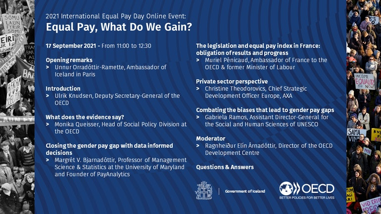 Full schedule - 2021 International Equal Pay Day Online Event: Equal Pay, What Do We Gain?