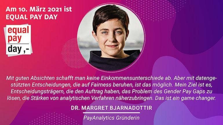 Margret Bjarnadottir featured as an Equal Pay Game Changer.