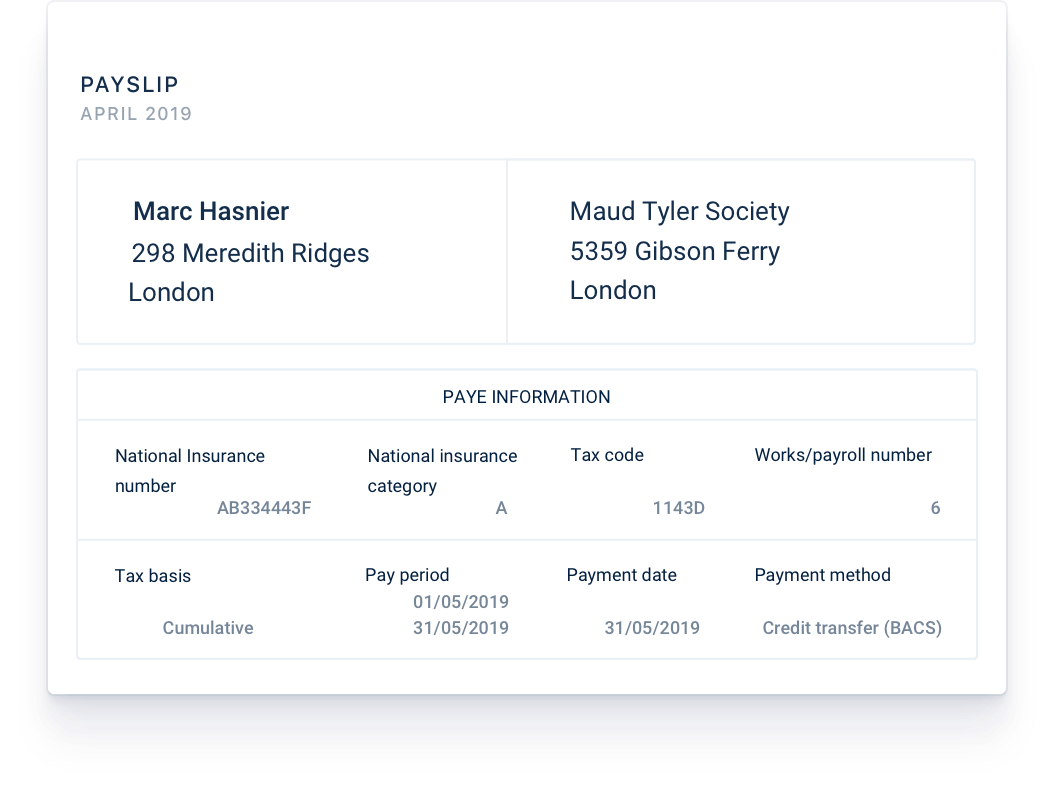 Previewing payslips in real-time