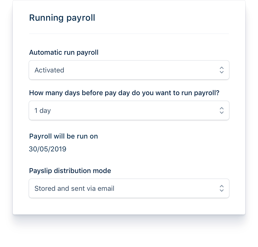 Manage your payroll in a few clicks