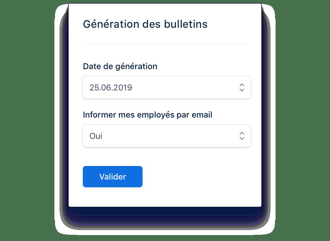 Génération automatique des bulletins de paie