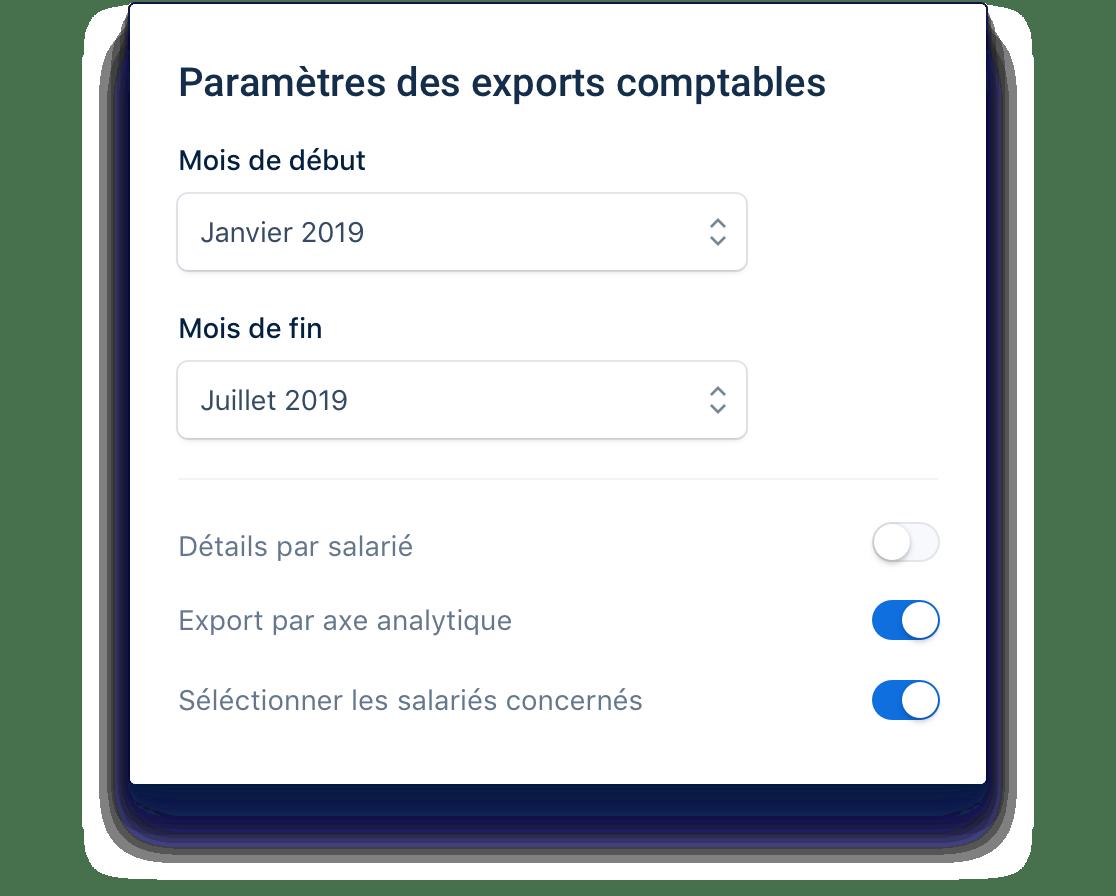 Vos exports comptables en un clic