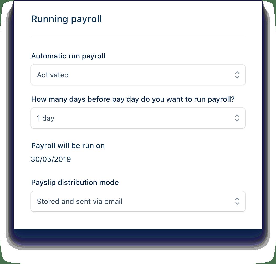 Automatic payslip generation