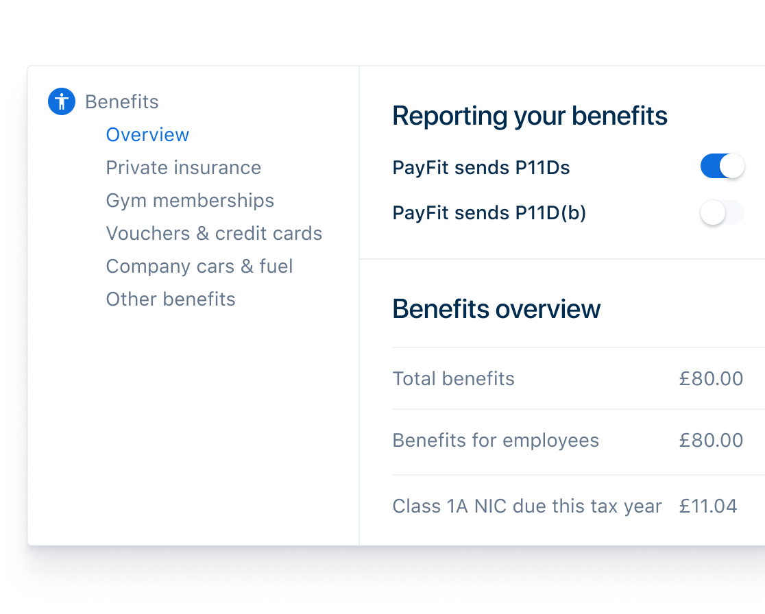 Payroll Benefits and P11Ds
