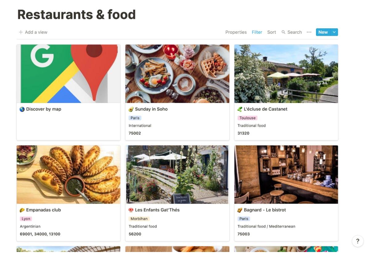 Liste de tous les restaurants clients PayFit