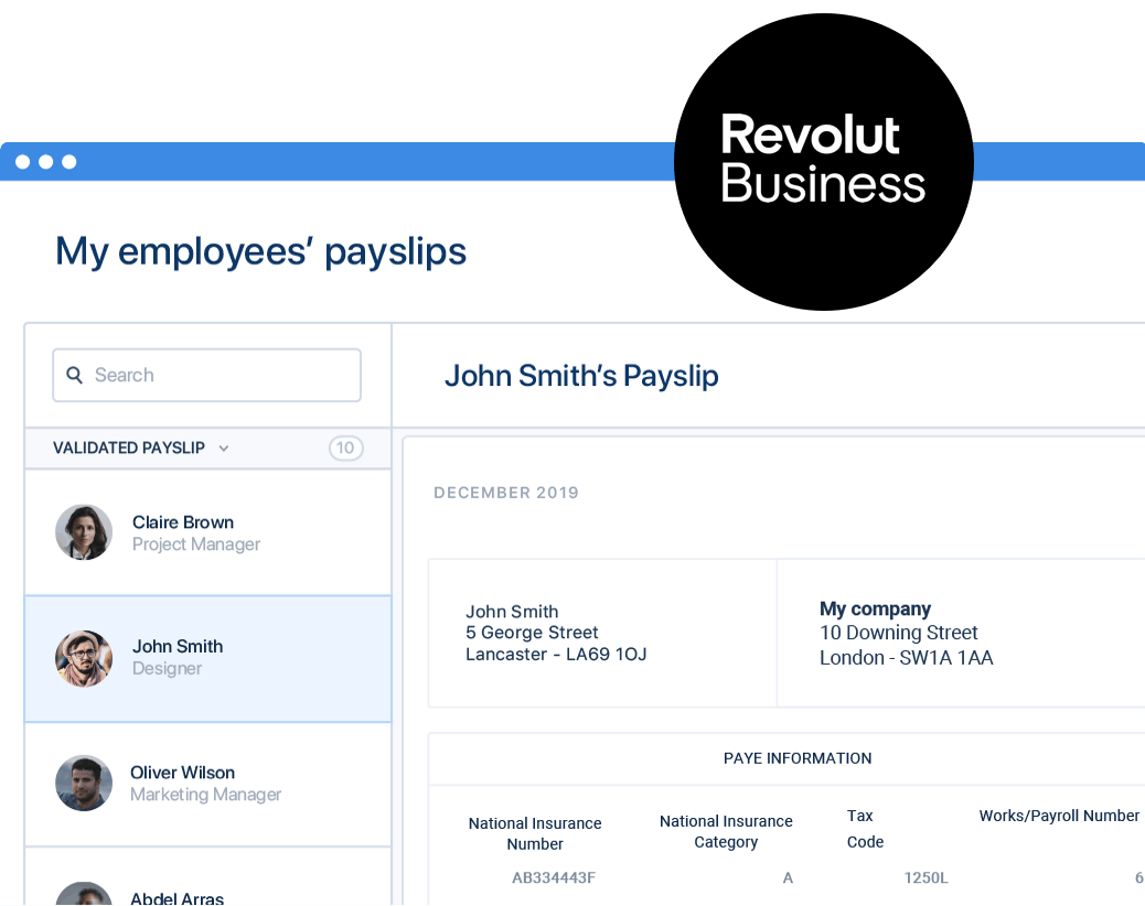 Payroll with revolut business and payfit