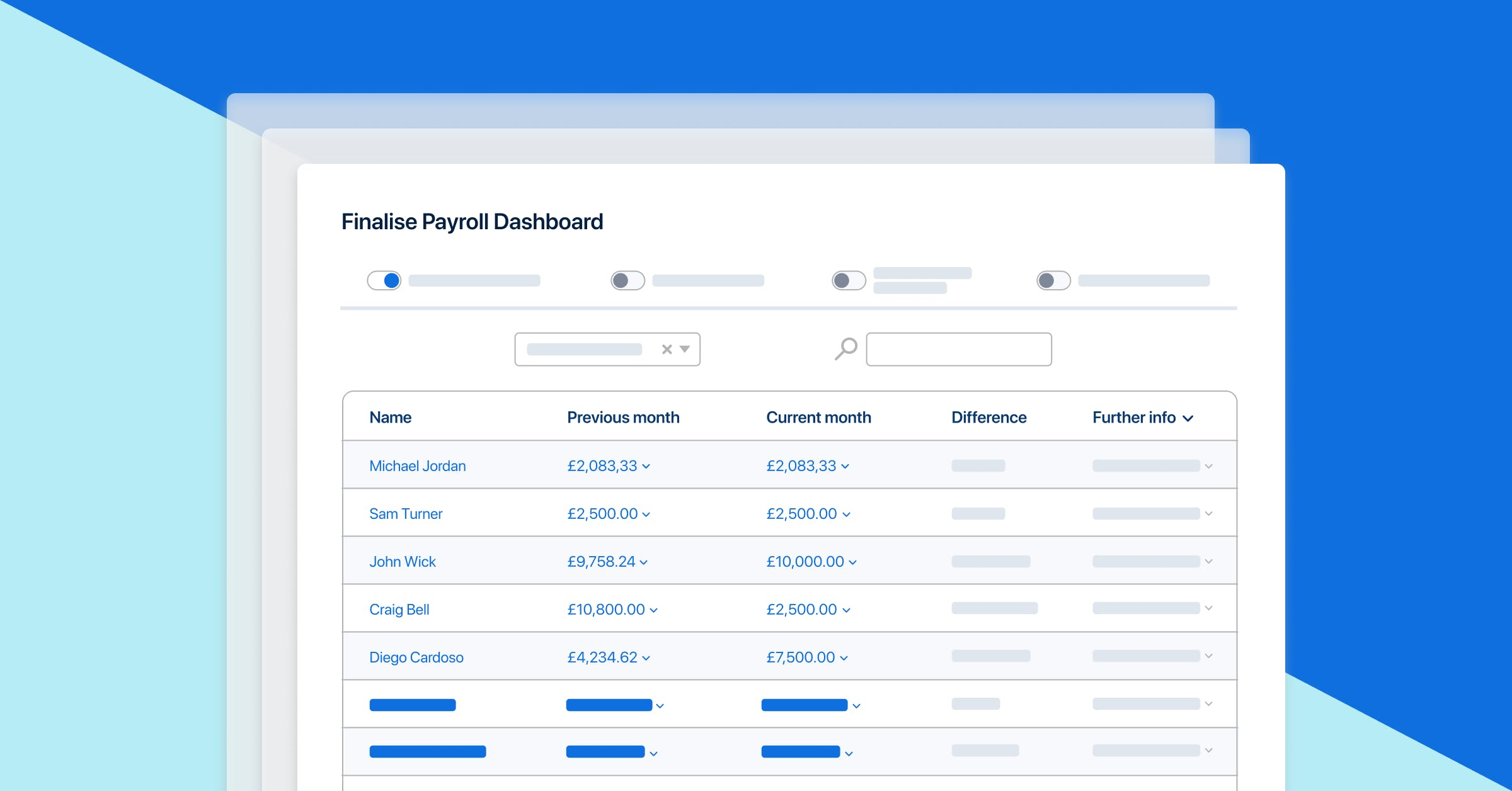 PayFit's finalise payroll dashboard feature.