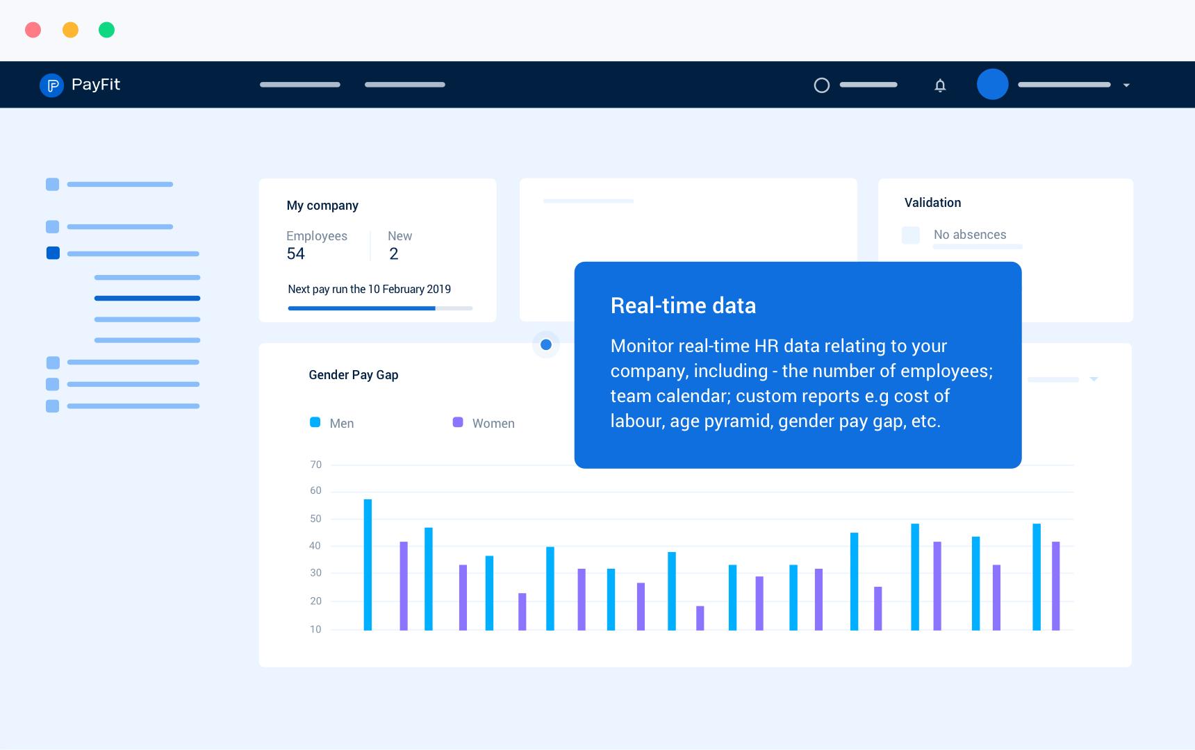 Custom dashboard and reports