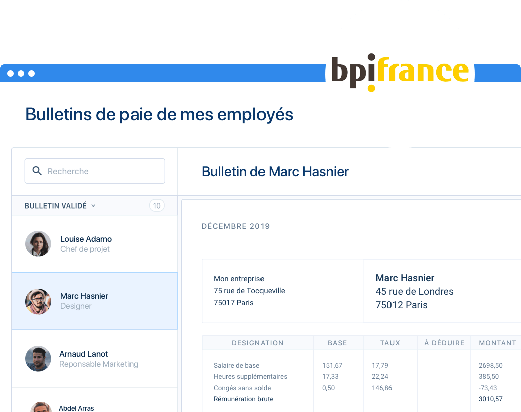 Avec Bpifrance, profitez de 20% de réduction sur PayFit pendant 1 an !
