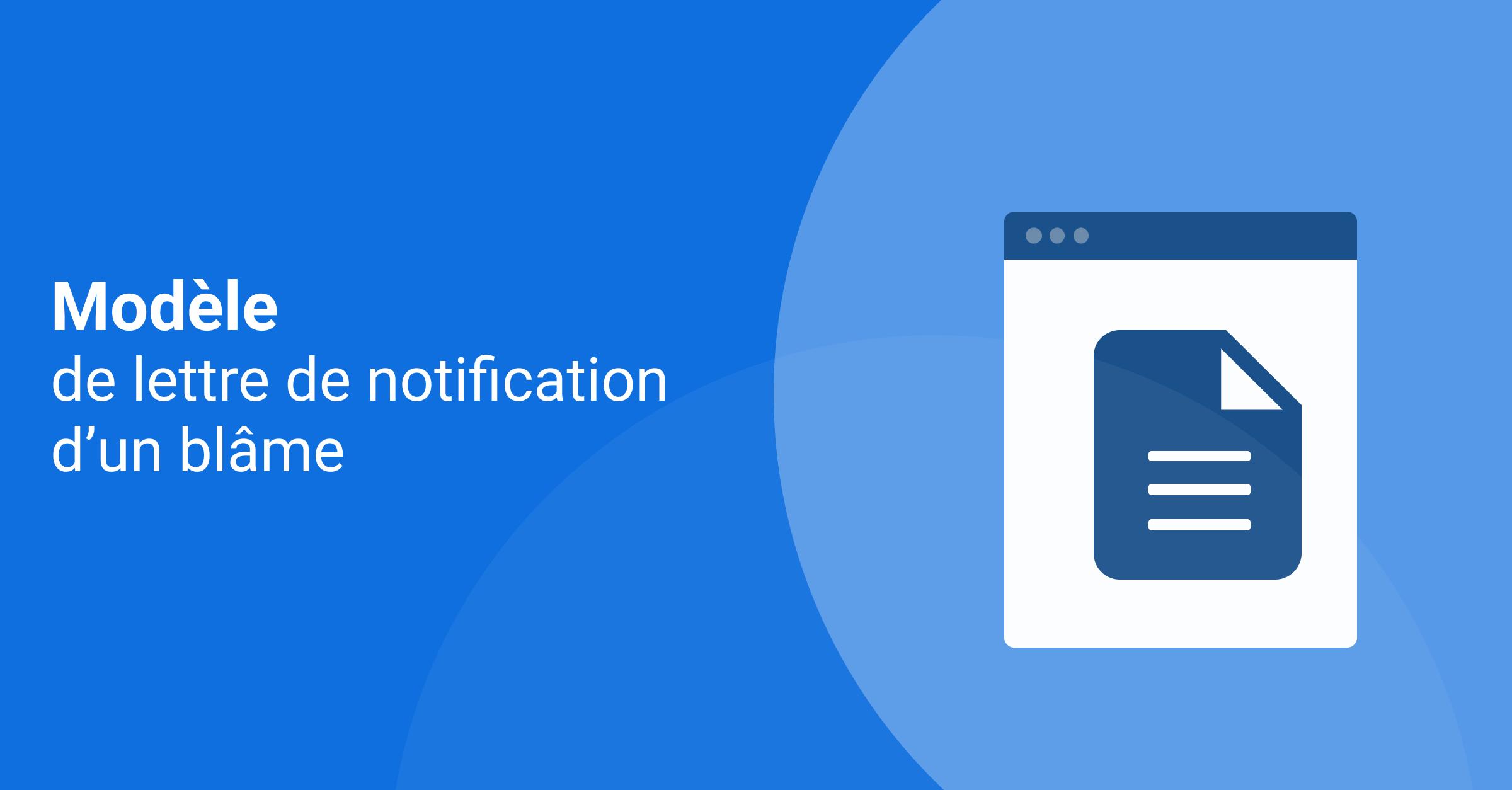 modele lettre notification blame