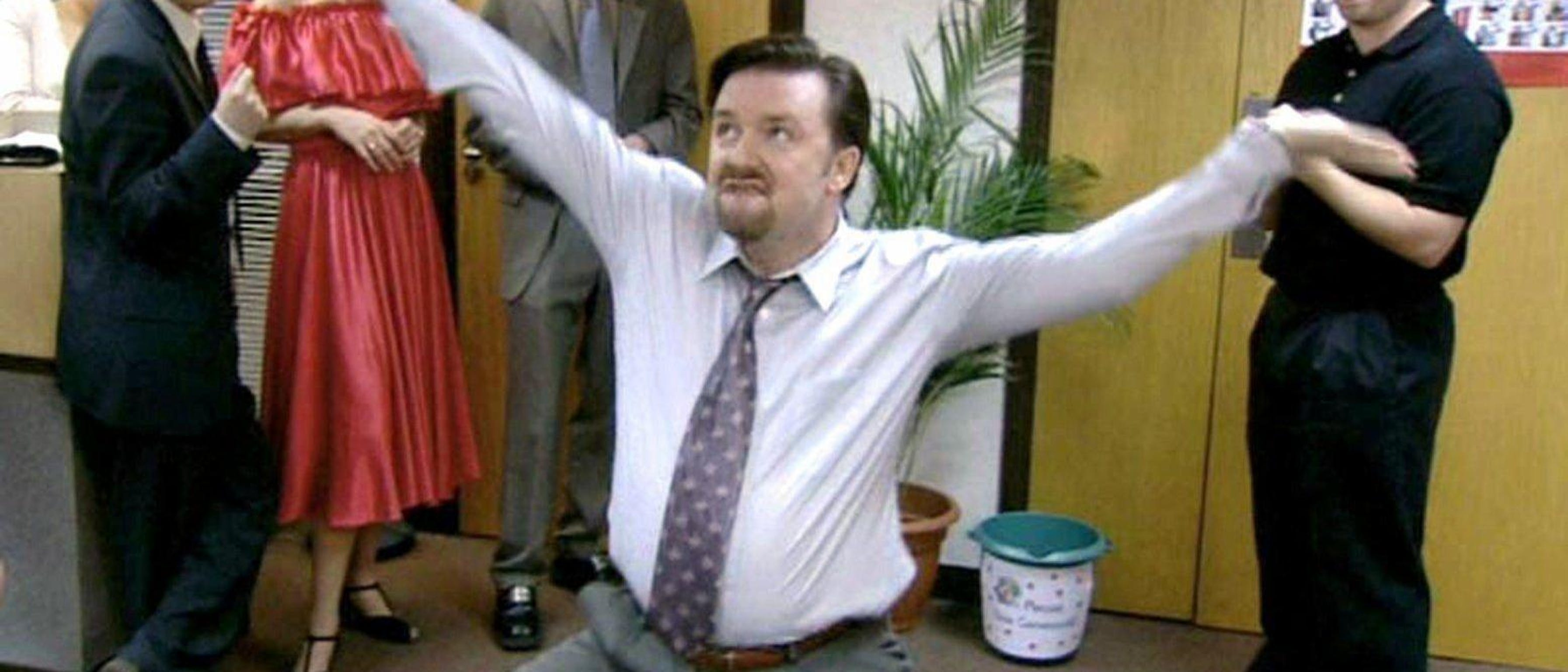 David Brent was a never serious boss.