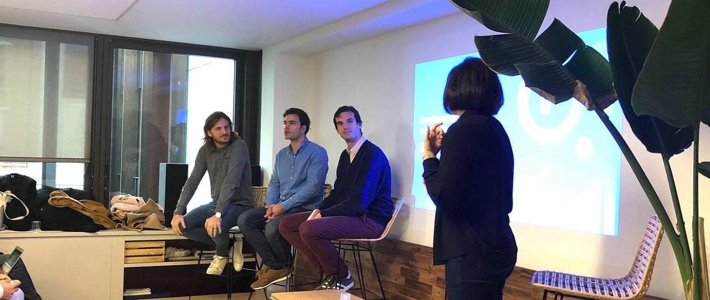 De gauche à droite : Loïc Soubeyrand, Firmin Zocchetto, Rodolphe Ardant et Marine Thivend (PR Manager @PayFit)