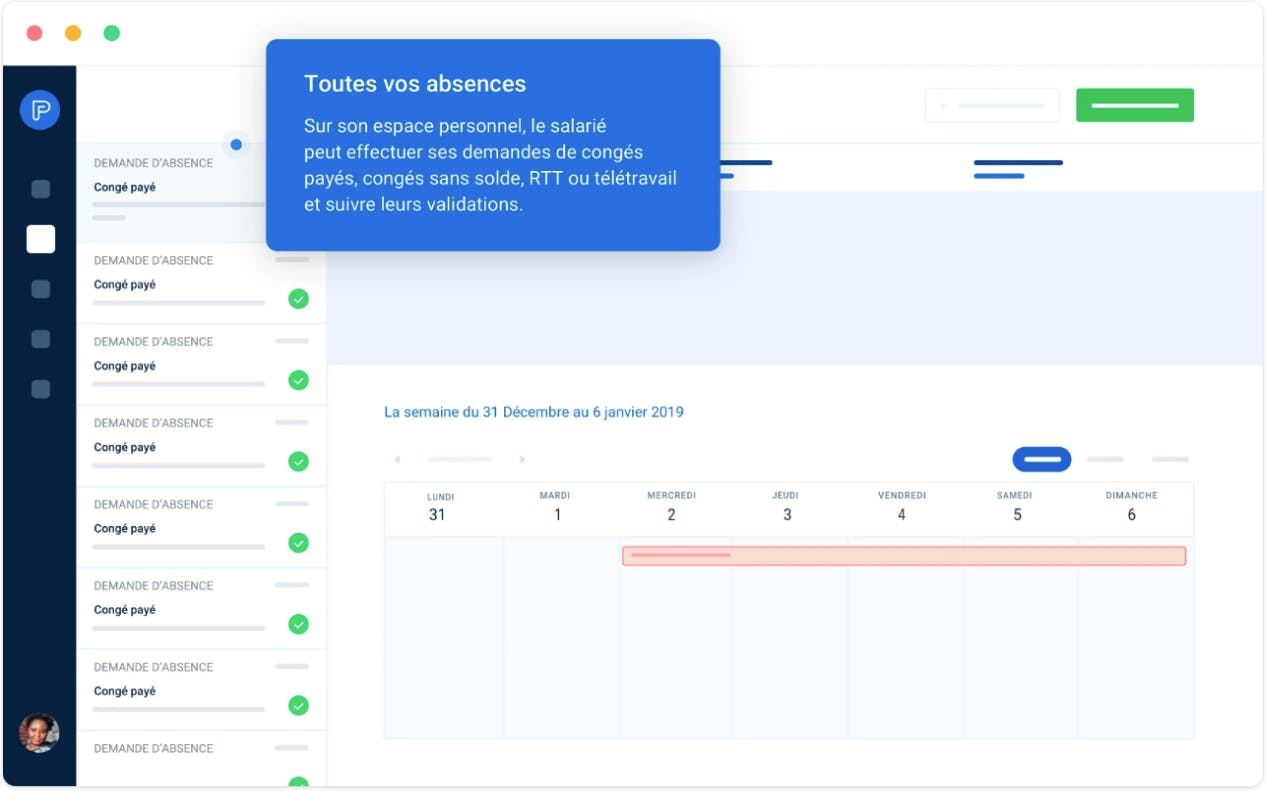 Plateforme PayFit - l'espace employé