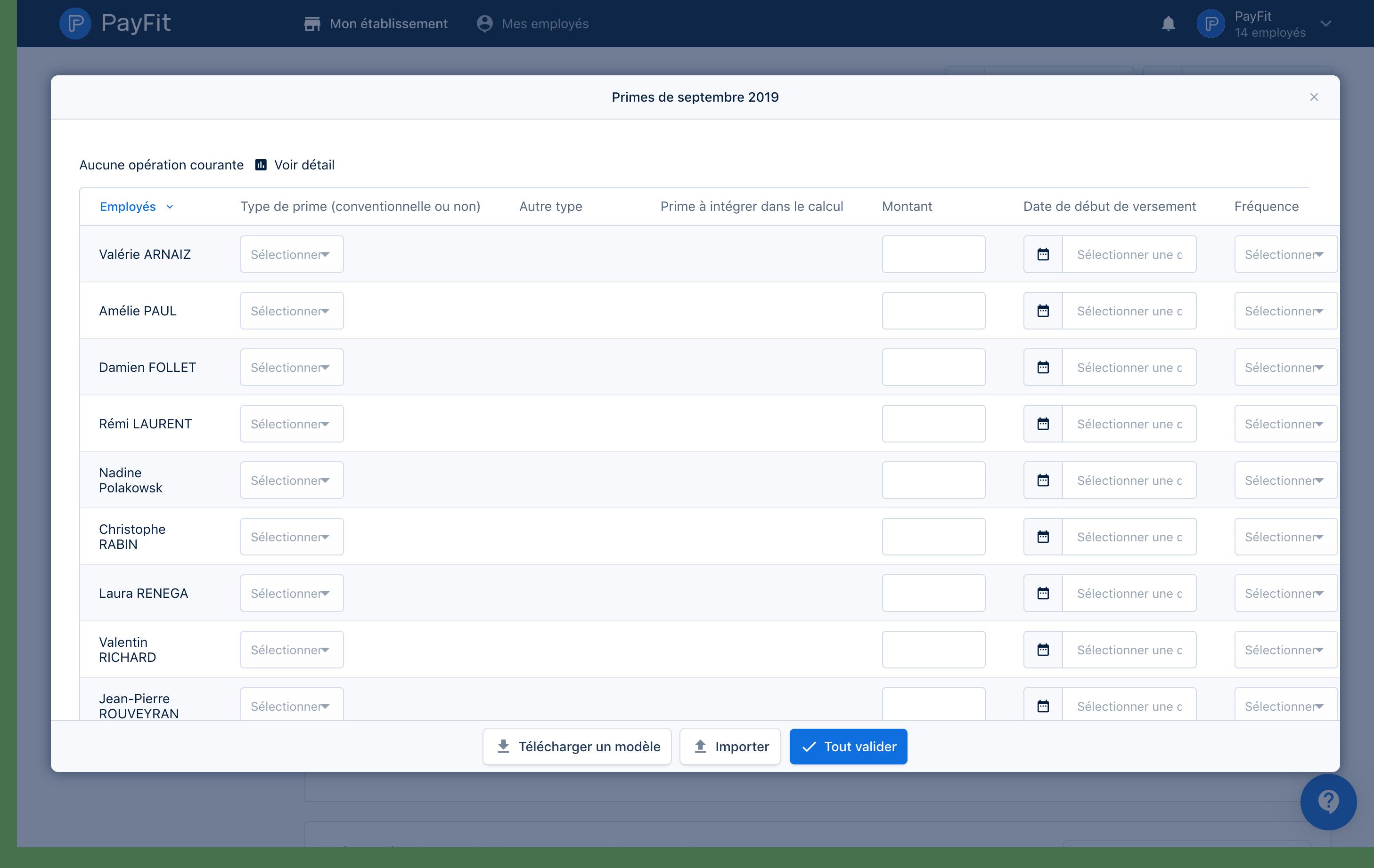 L'import des variables de paie dans PayFit