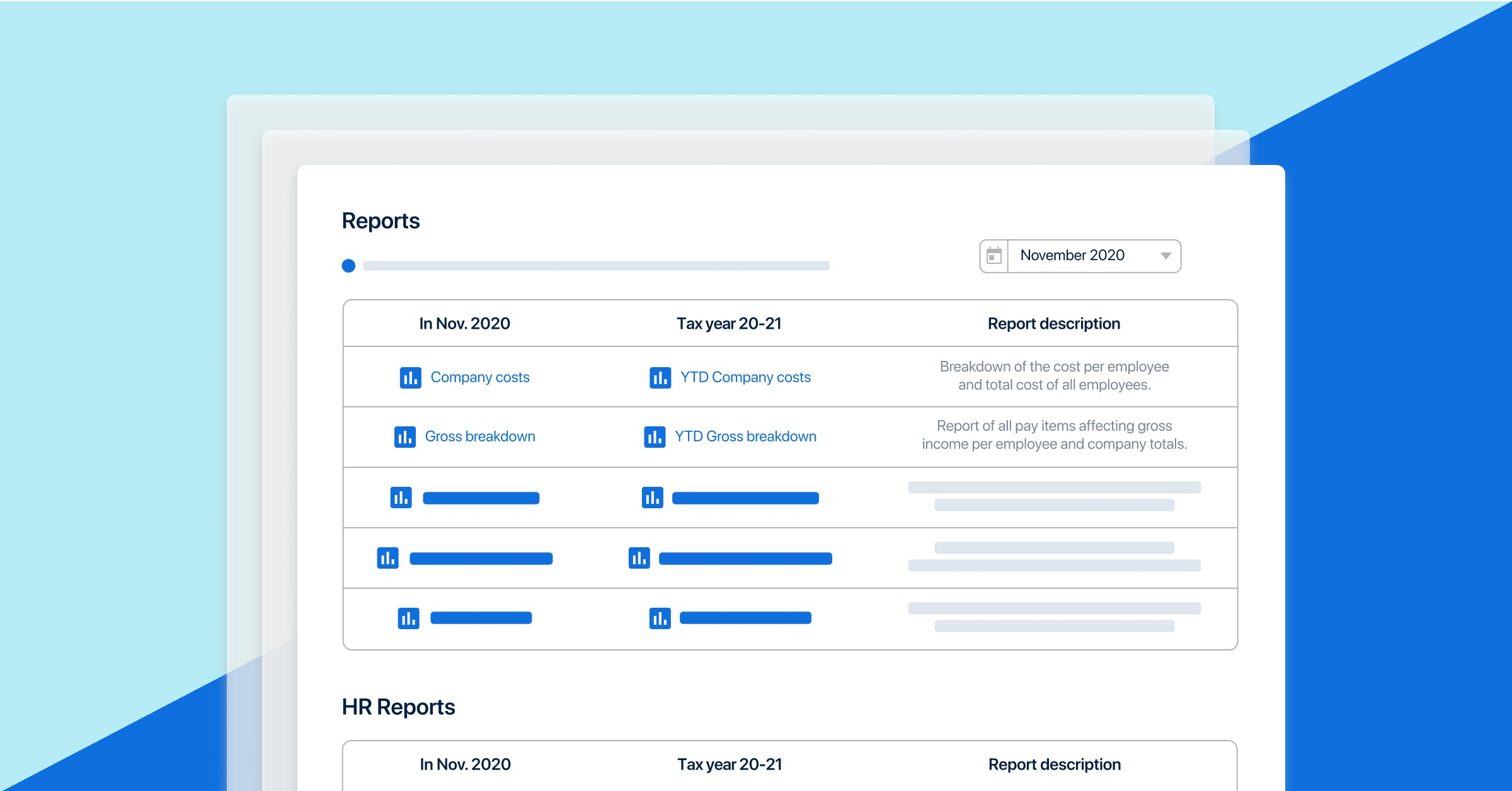 PayFit's new reporting feature.