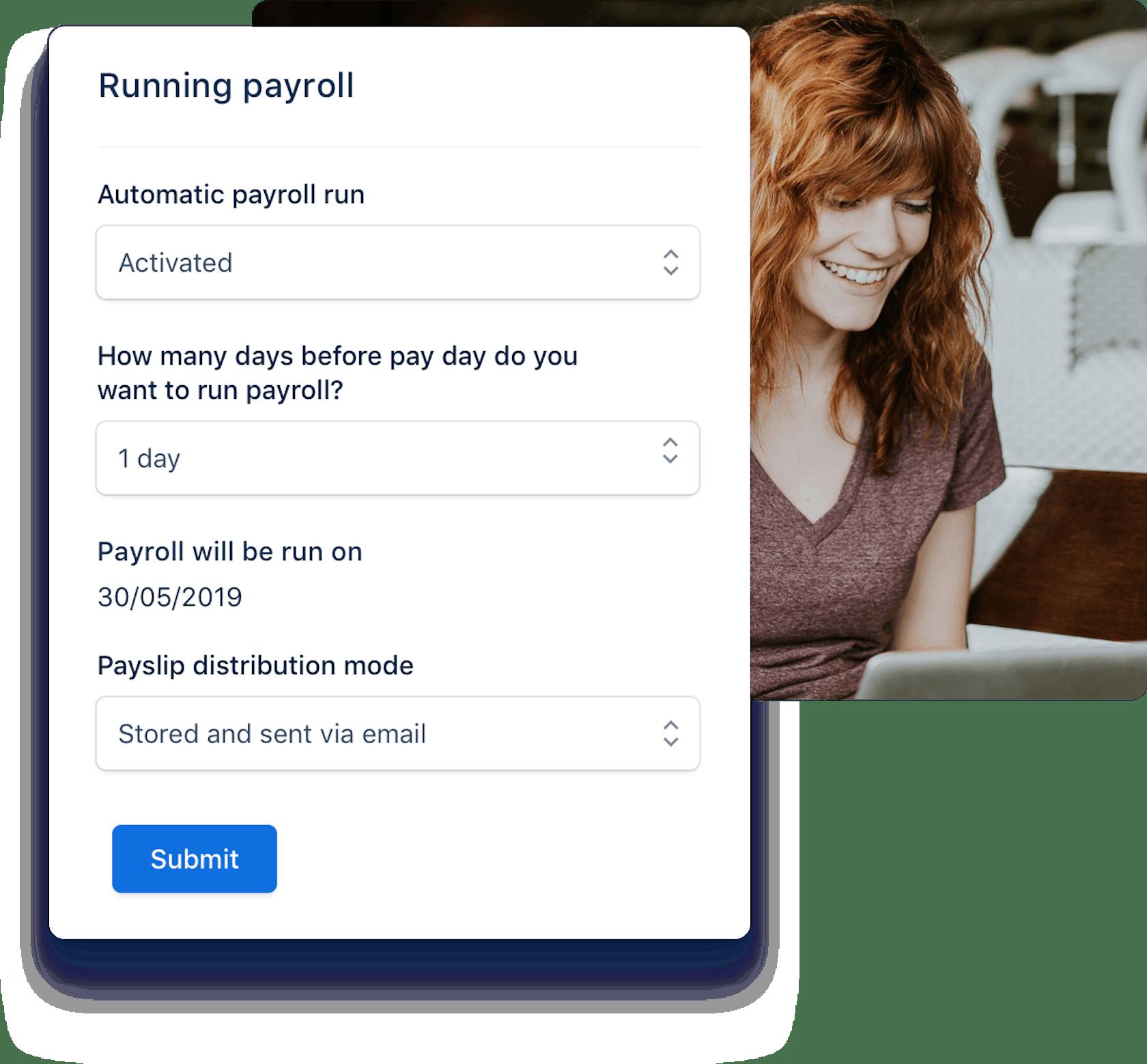 Automatic payroll run