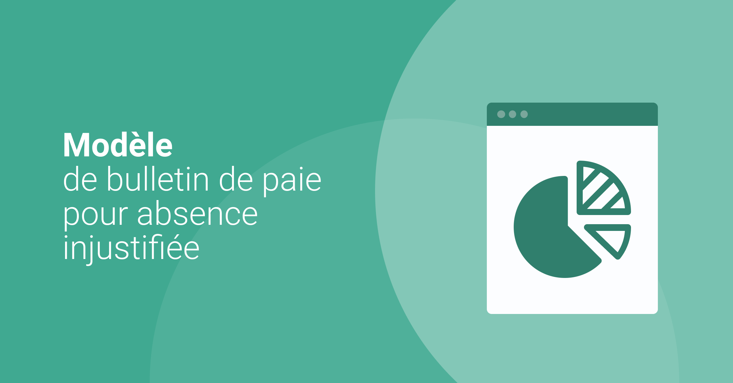 Modele de bulletin de paie pour absence injustifiée