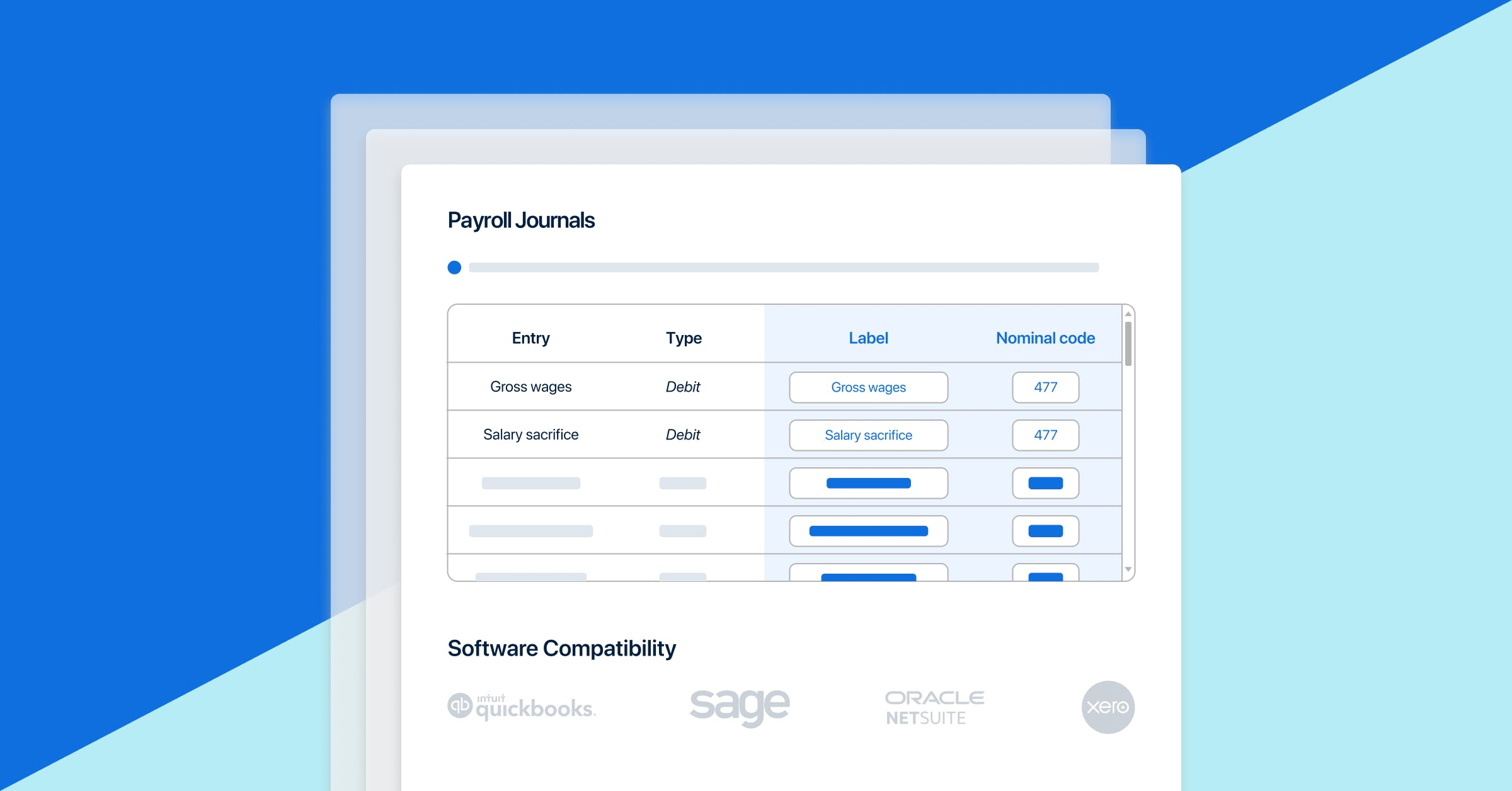 PayFit's payroll journals feature.