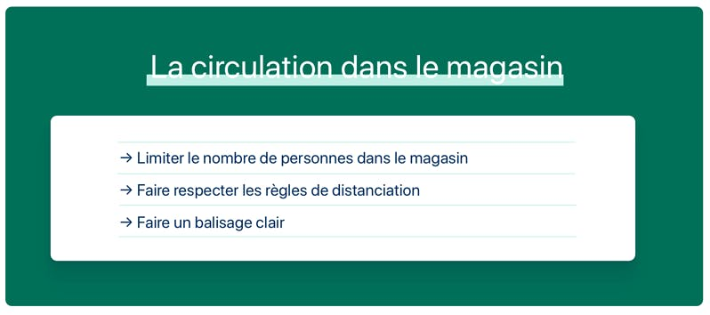 circulation magasin
