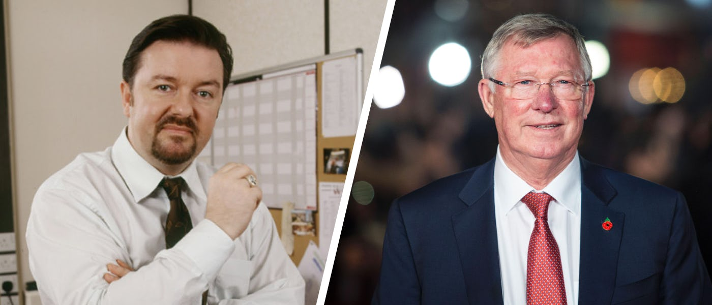 A study of management styles - David Brent vs Sir Alex Ferguson