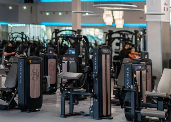 Palm Beach Sports Club strength training area