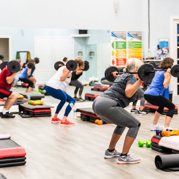 Group Exercise studio at Palm Beach Sports Club