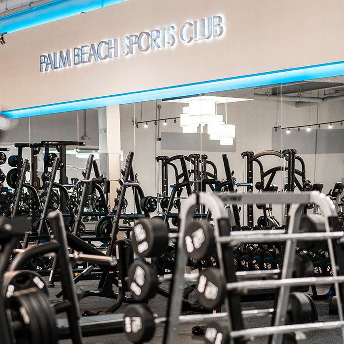 Extensive Weight Floor at Palm Beach Sports Club gym