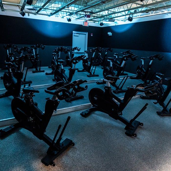 Cycle studio at Palm Beach Sports Club gym