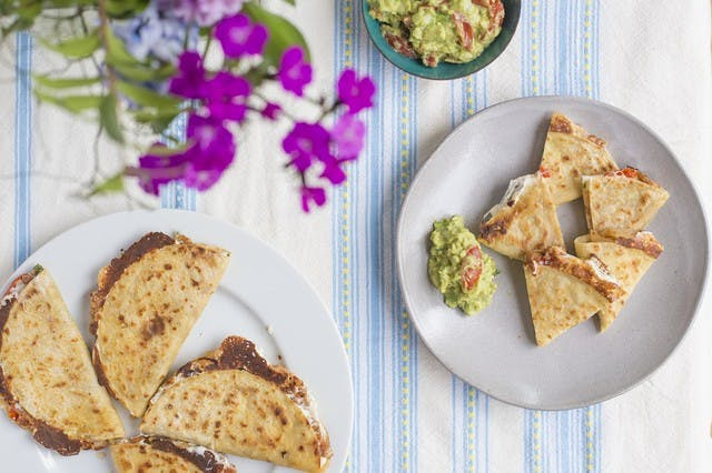 Vidalia Onion Quesadilla with Fresh Guacamole