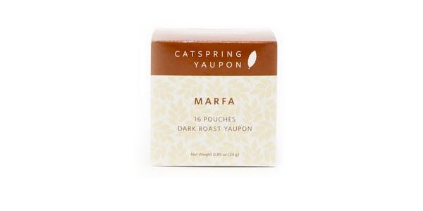 CatSpring Yaupon Marfa Dark Roast Yaupon Tea, 16 pouches