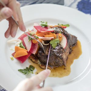 Braised Beef Short Rib with Spring Onion Potato Cake & Carrot-Radish Salad—4 Serving Kit