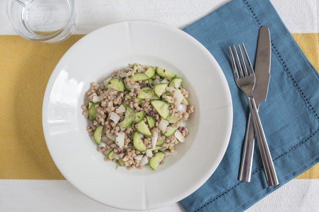 whole wheat couscous salad with cucumbers vidalia onion and tarragon