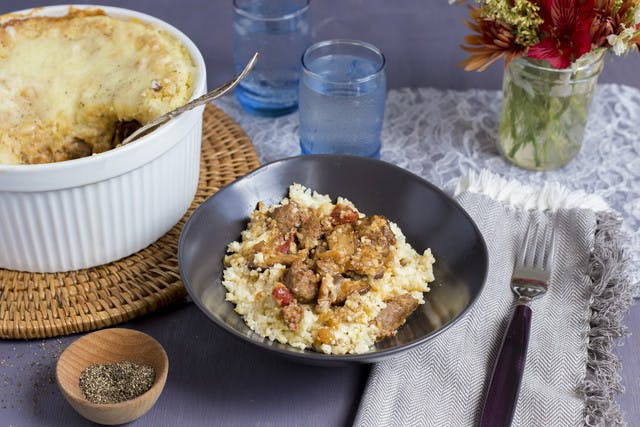 Kevin Callaghan's Brunch Casserole with Cheese Grits, Sausage & Mushroom