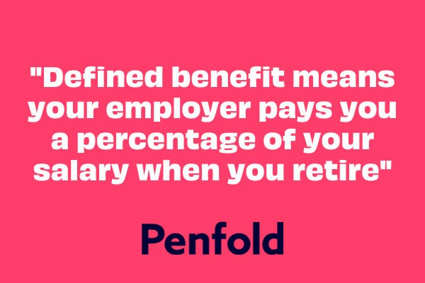 what is a defined benefit pension