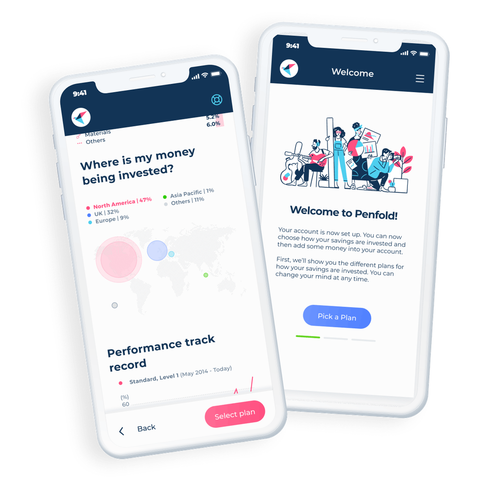 Penfold Dashboard and Activity pages