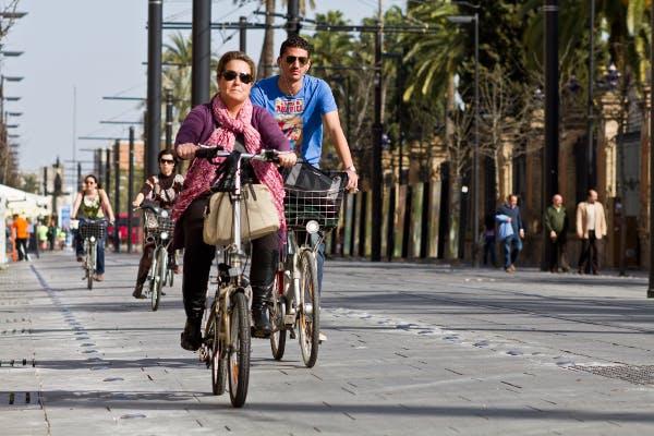 Bikers in Sevilla