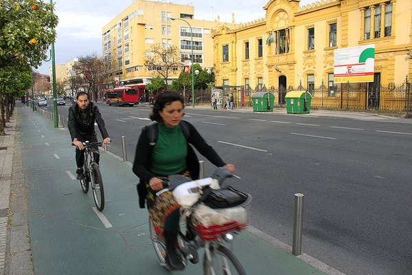Biking in Sevilla