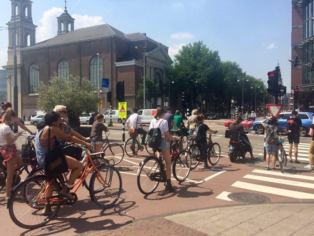 Bikers at 3 p.m. in Amsterdam.