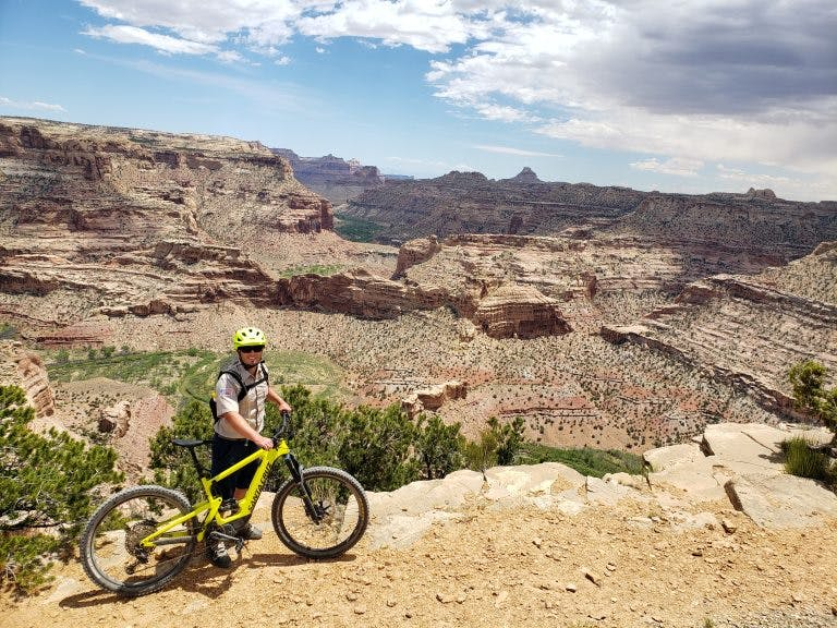 Blake Baker says an e-bike allowed him to ride some remote trails for the first time.