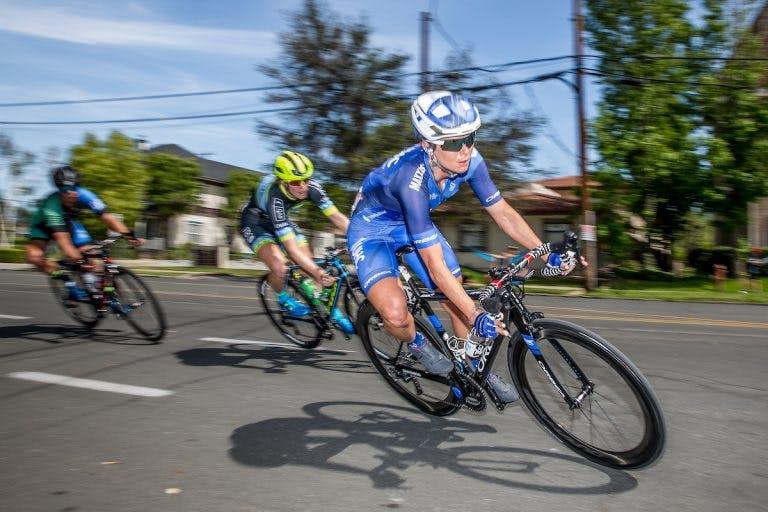 Lauren Hall races. (Source: United Healthcare Pro Cycling/Danny Munson.)