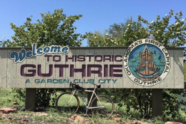 Gravel ride to Guthrie, OK