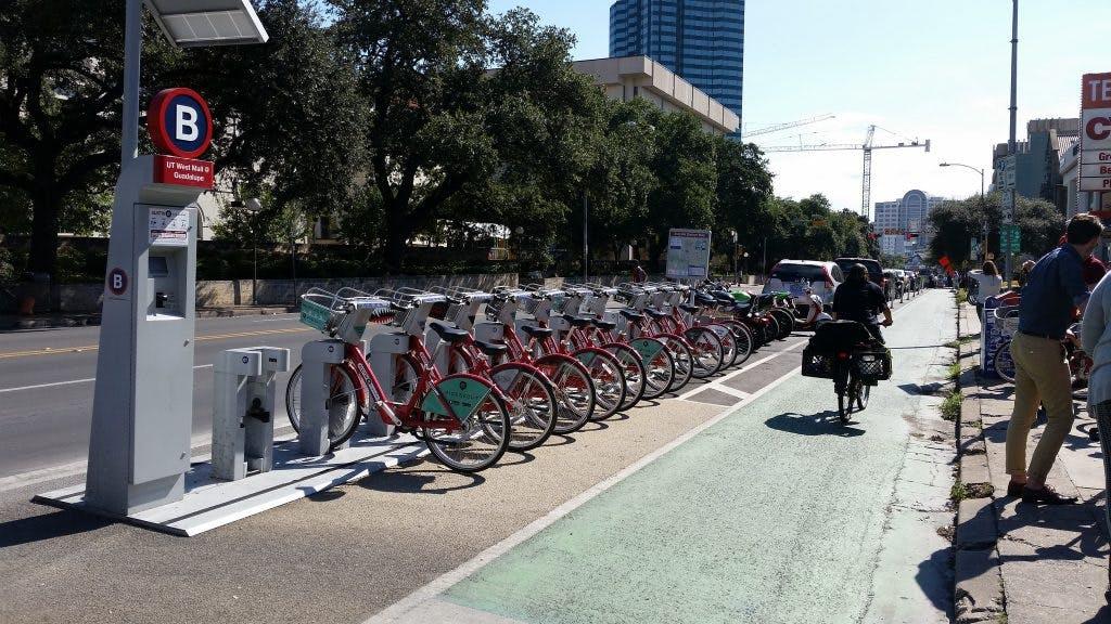 Bike sharing in Austin.