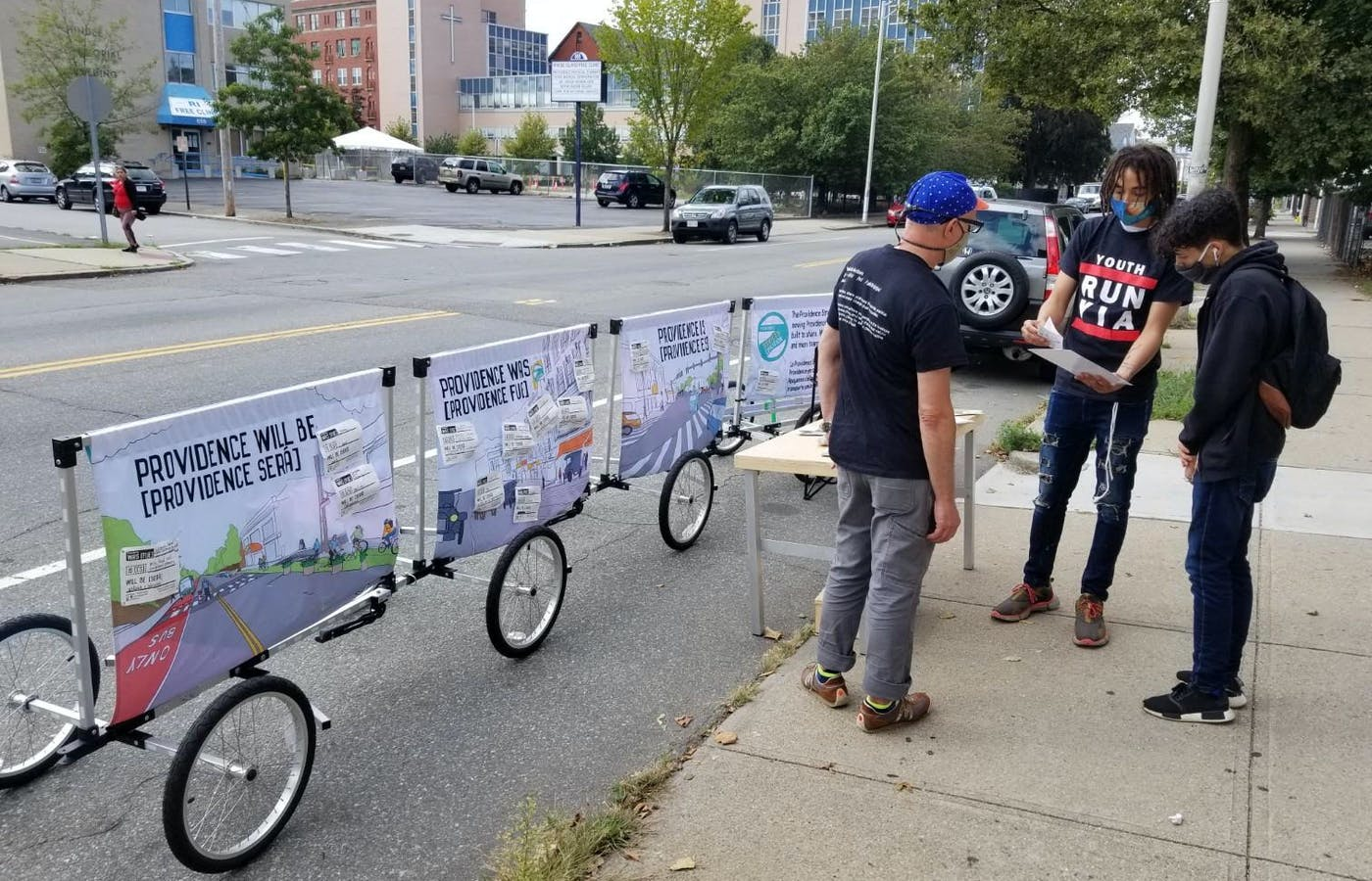 Alongside the nonprofit Youth in Action, the Providence Streets Coalition has been engaging residents on Broad Street around the city's planned infrastructure changes.