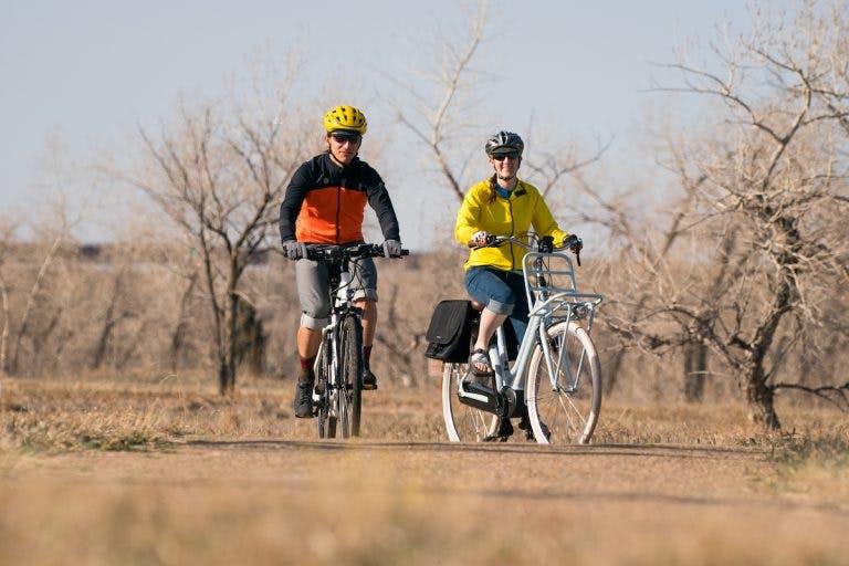 Biking in Flagstaff.