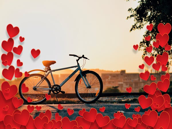 Show your bike some love on Valentines Day.