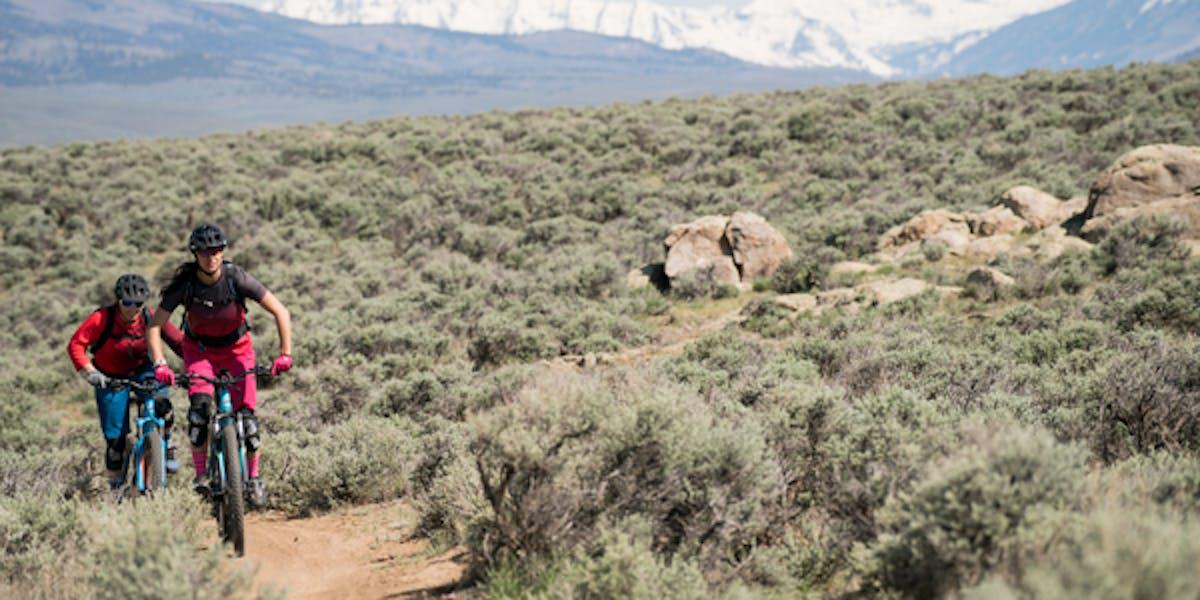 E-bikers in high desert