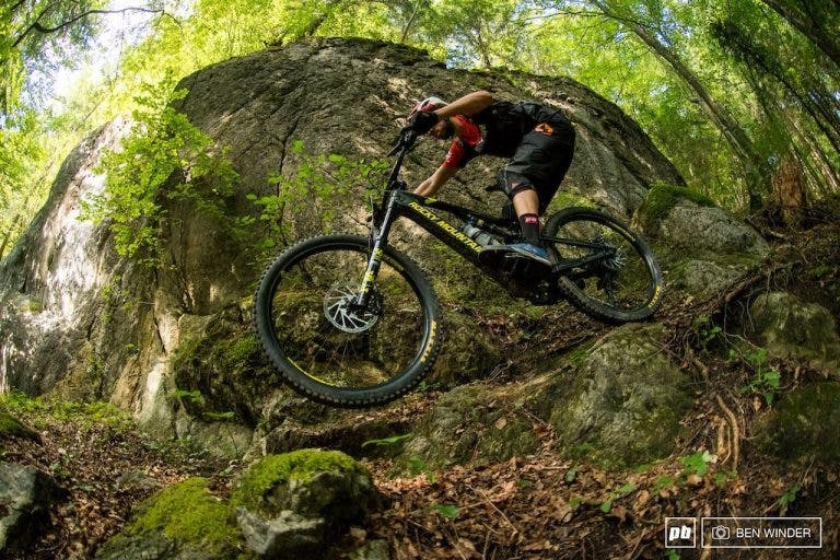 Electric mountain biking is growing in popularity. (Source: Pinkbike; Ben Winder.)