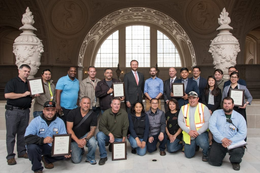 Members of SF's quick-build project team.