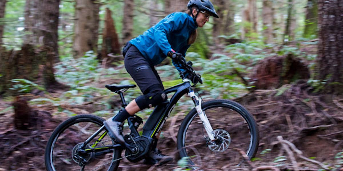 eMTB in forest setting